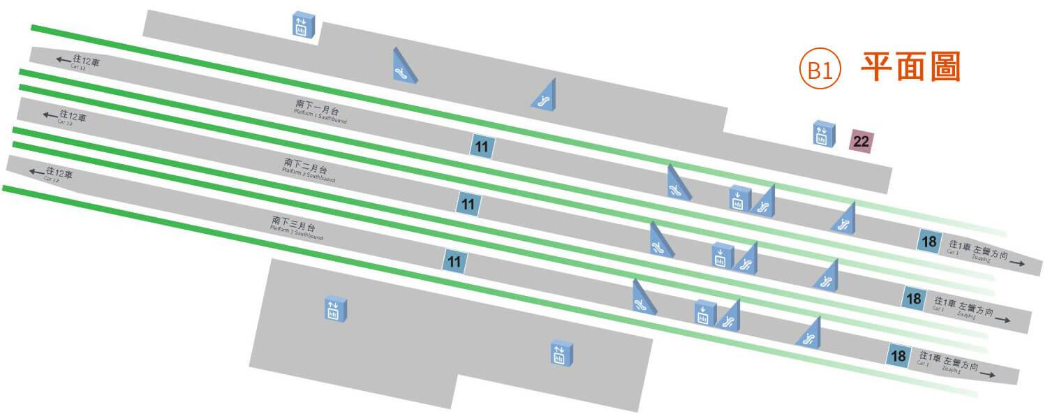 南港高鐵站平面圖-B1