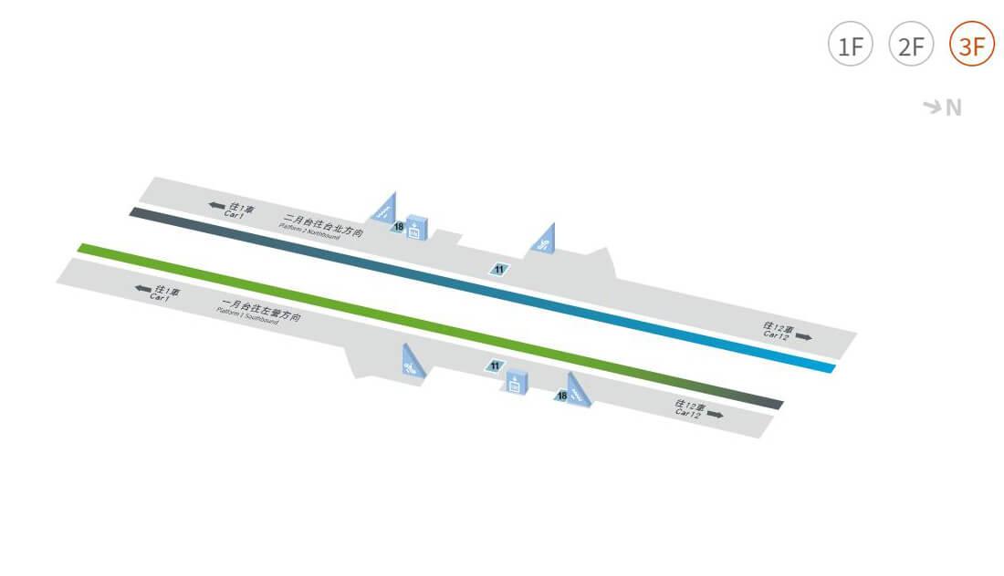 新竹高鐵站平面圖 3F